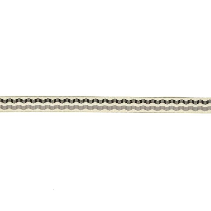 "5/8"" Laura Foster Nicholson Double Wave Ribbon Black/White"
