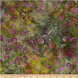 "106"" Wide Batavian Batiks Quilt Backing Raindrops Multi"