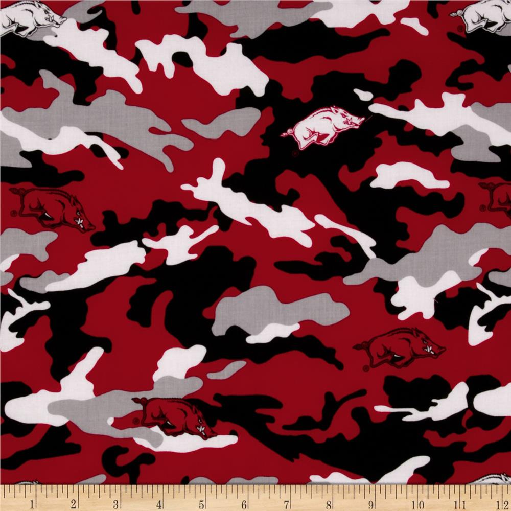 Collegiate Cotton Broadcloth The University of Arkansas Camouflage