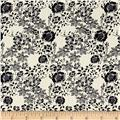 Telio Hampton Court Cotton Poplin Floral Print Off White/Navy