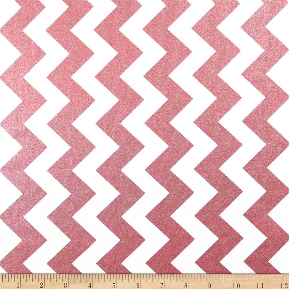 Riley Blake Hollywood Sparkle Medium Chevron Rose