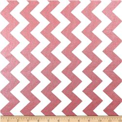 Riley Blake Hollywood Sparkle Medium Chevron Rose Fabric