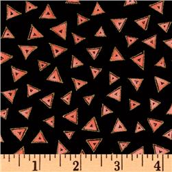 Laurel Burch Basics Triangle Black/Red Fabric