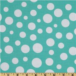 Michael Miller Lolli Dot Wave Aqua Fabric