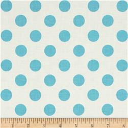 Riley Blake Le Creme Bascis Medium Dots Cream/Aqua