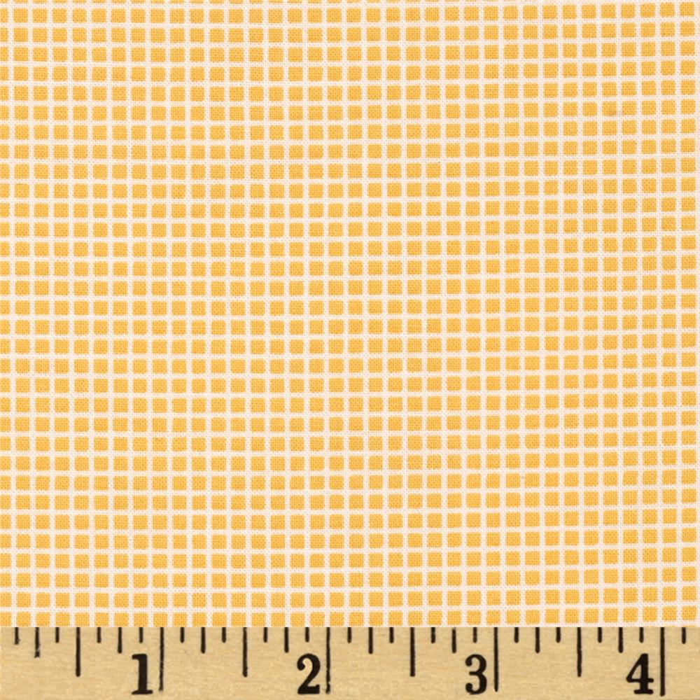 Kaufman Penny's Dollhouse Gingham Screamin Yellow