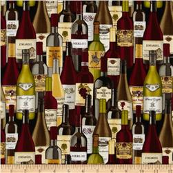Timeless Treasures Wine Lover Bottles Wine