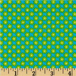 Kanvas Made with Love Tiny Daisy Turquoise Fabric