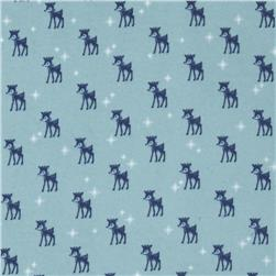 Riley Blake Cozy Christmas Flannel Reindeer Blue