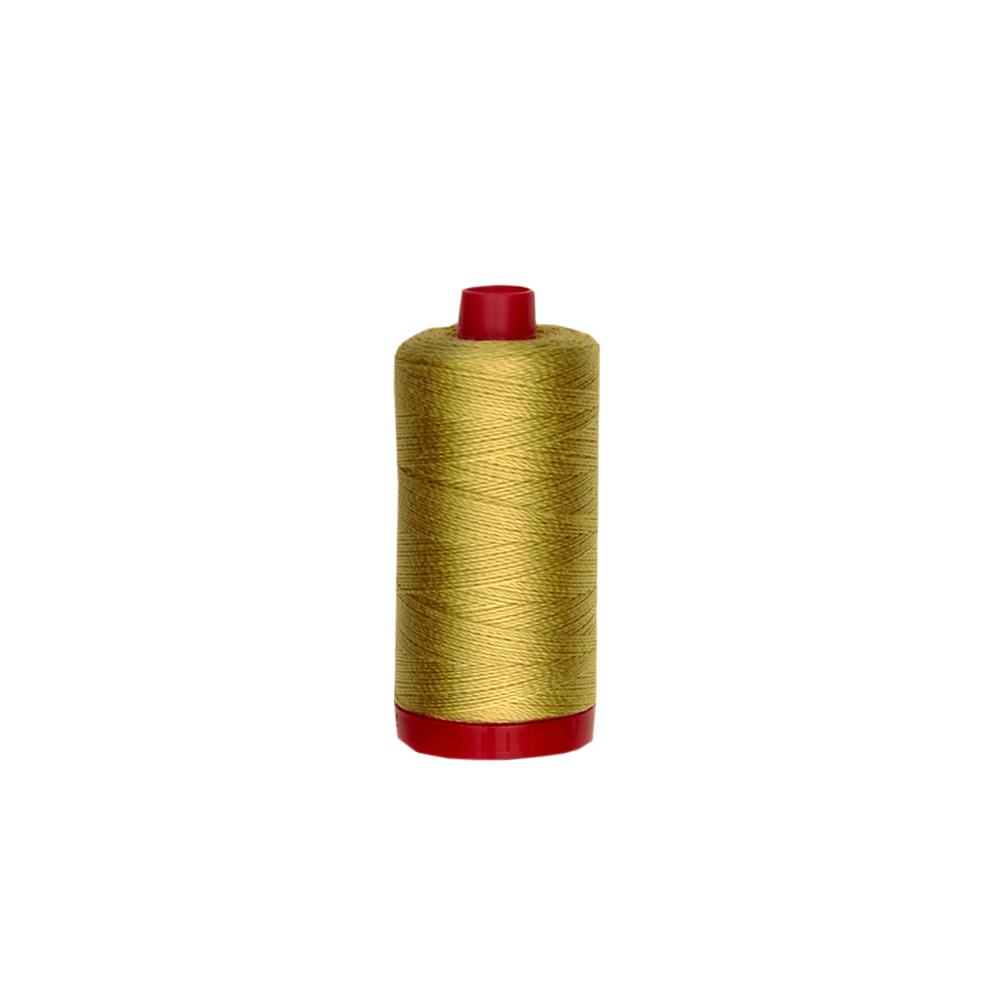 Aurifil 12wt Embellishment and Sashiko Dreams Thread Light Brass