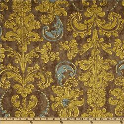 French Twist Damask Dark Grey