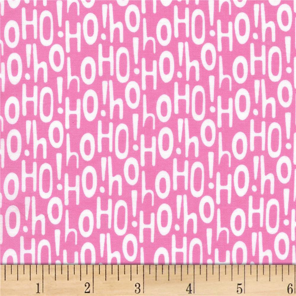 Michael Miller Holiday Row Holiday Ho Pink