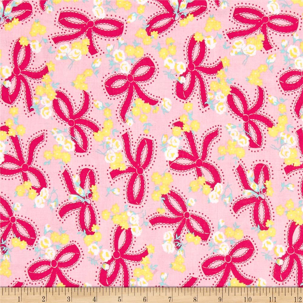 Riley Blake Dainty Darling Bows Pink