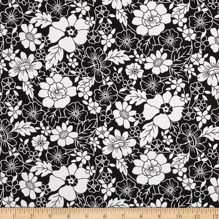 Audrey Flower Toss Black