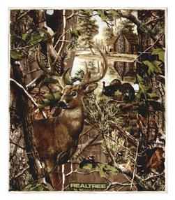 "Realtree Fleece Deer & Turkey 49"" Panel Multi"