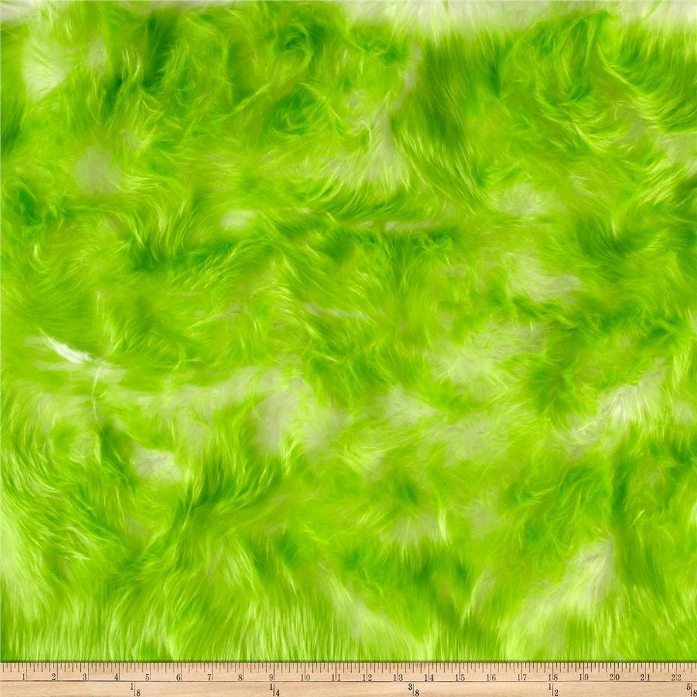 Luxury Faux Fur Candy Shag Lime