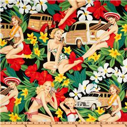 Pin Ups Aloha Girls Black