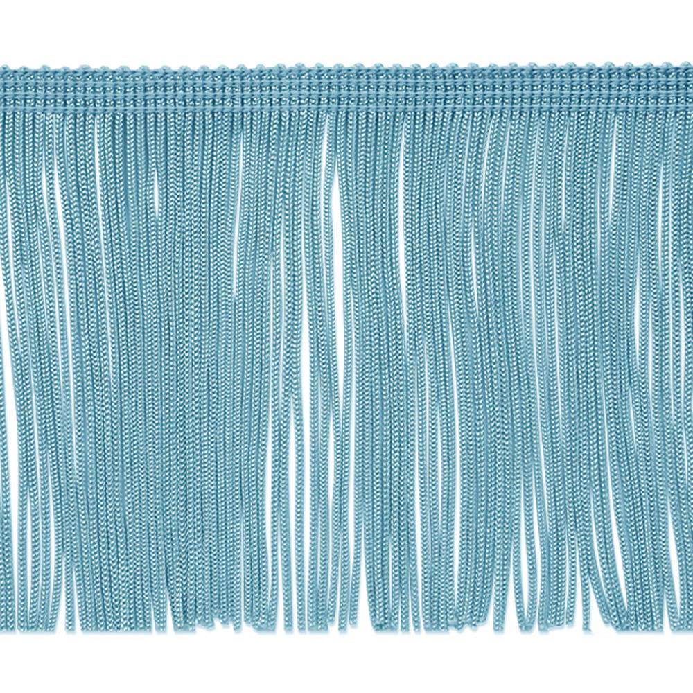 "4"" Chainette Fringe Trim Light Blue"