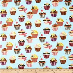 Sweet Tooth Cupcakes Powder Fabric