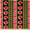 Kanvas Mad for Melon Watermelon Stripe Black