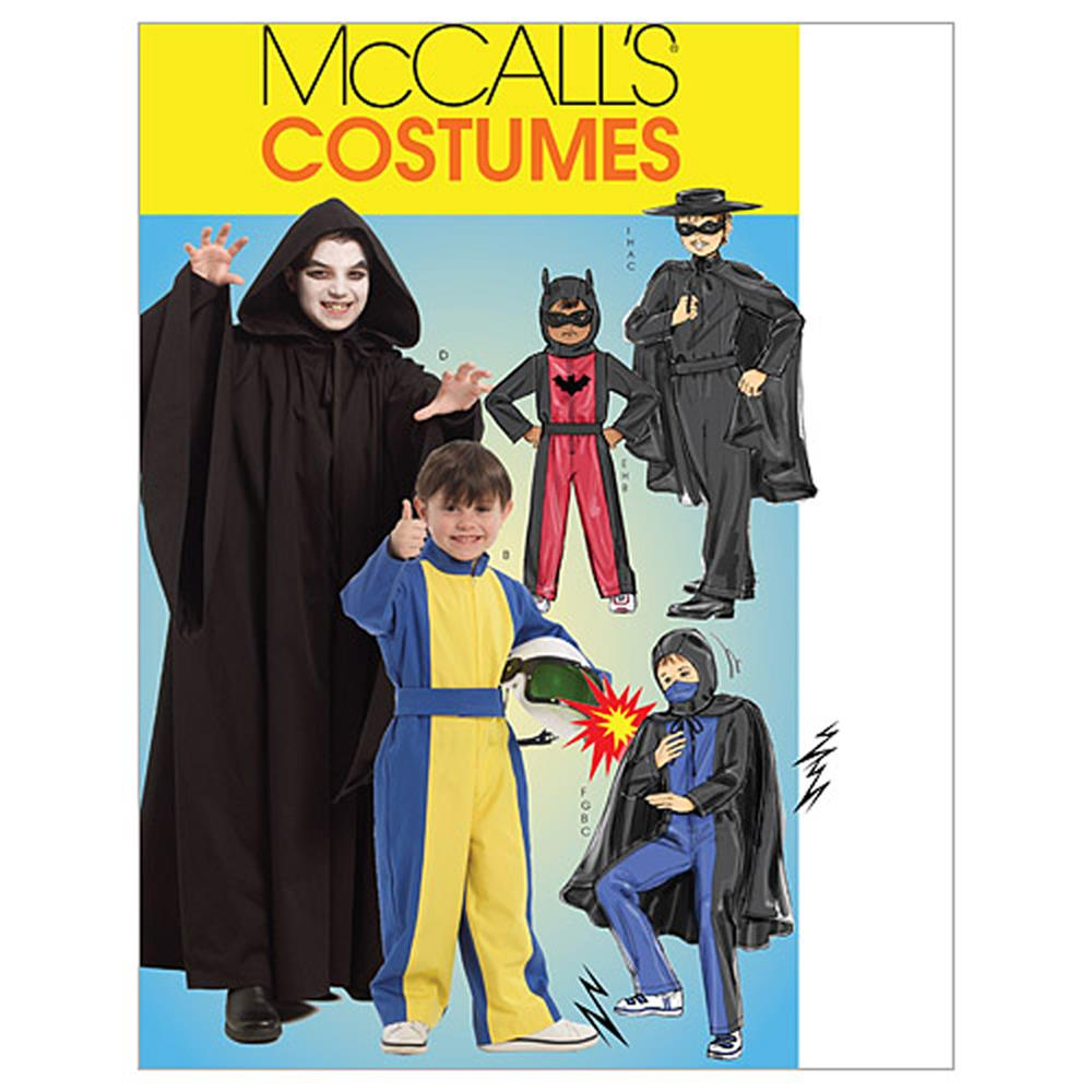 McCall's Children's/Boys' Hero Costumes Pattern M5952 Size CCE