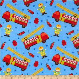 Flannel Prints Fire Chief Blue