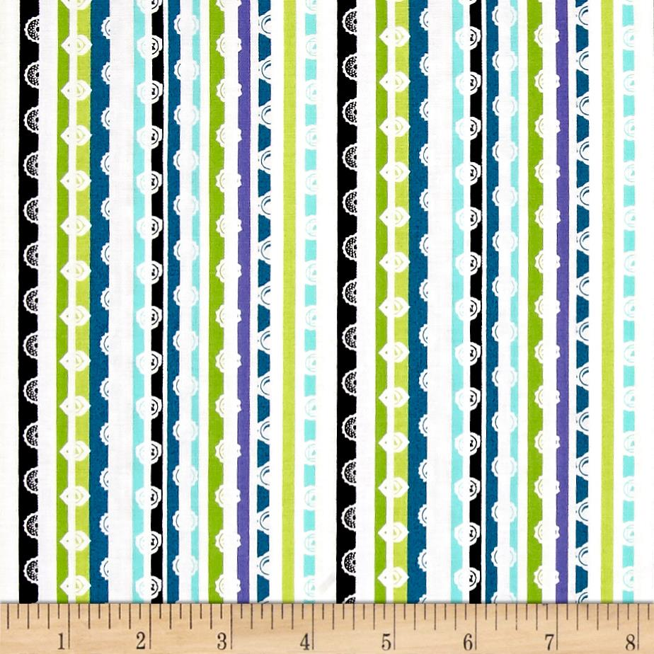 Michael miller namaste chakra stripe celestial discount for Celestial pattern fabric