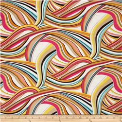 Rayon Challis Abstract Multi
