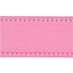 "1 1/2"" Grosgrain Stitched Edge Ribbon Pink/Rose"