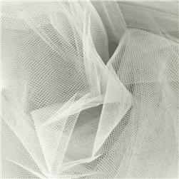 54'' Wide Tulle Diamond White Fabric