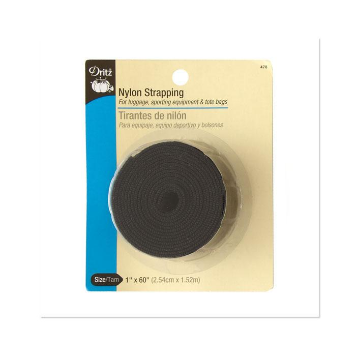 "Nylon Strapping 1""X 60"" Black"