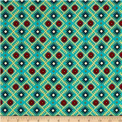 Mystical Natives Aztec Argyle Turquoise