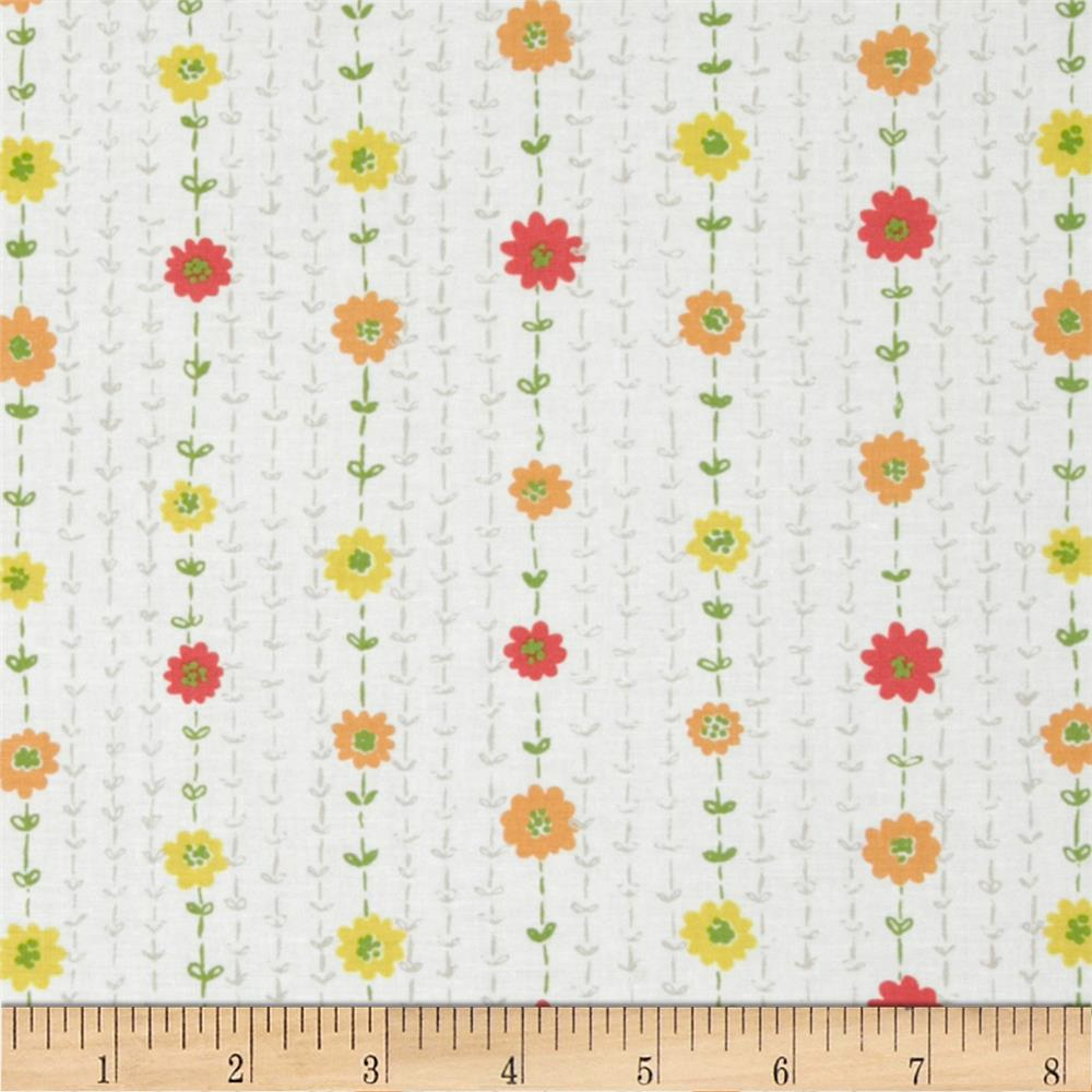 Dear Stella Savannah Floral Stitch White