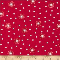 Wallflowers Dandelion Dots Red