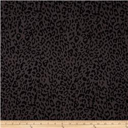 Fashion Printed Denim Cheetah Print Black/Grey