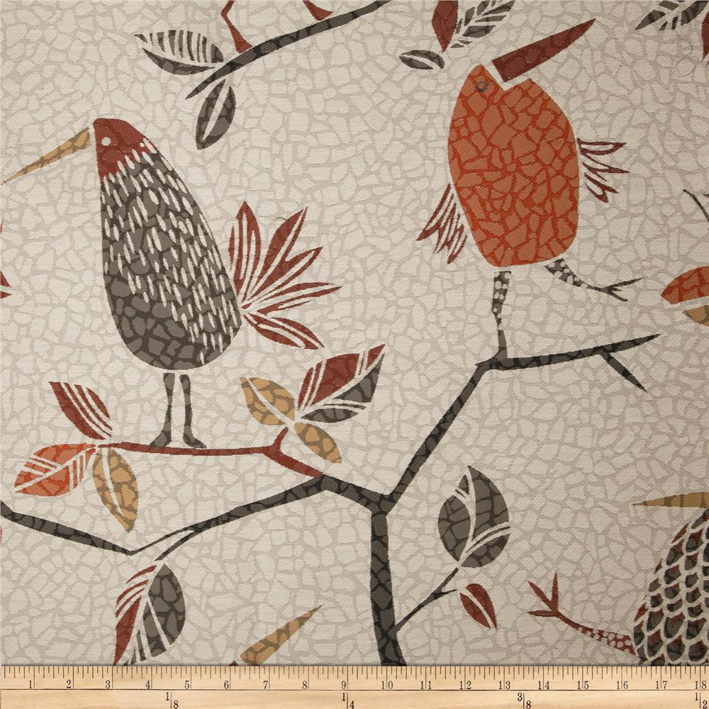 Swavelle/Mill Creek Flock Together Jacquard Saffron