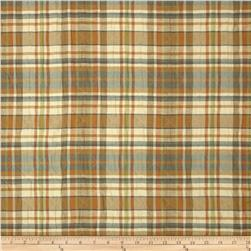 Robert Allen Promo Plaid Quilted Upholstery Rain