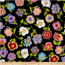 Loralie Designs Blossom Big Blossoms Black