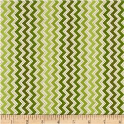 Kimberbell's Merry & Bright Zig Zag Green Fabric
