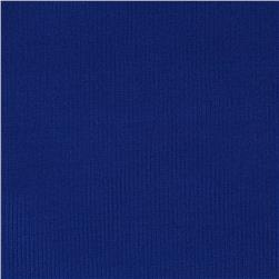 Poly Rib Knit Solid Warm Royal Blue
