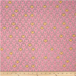 Riley Blake Zombie Love Heart Pink
