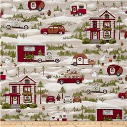 Seasons Greeting Christmas Journey Cream