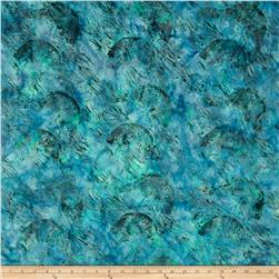 Island Batik Down in the Boondocks Dark Teal Fish