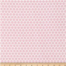Farm Friends Chicken Wire Pink Fabric