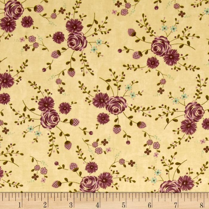 Moda Print Charming Floral Cream/Berry