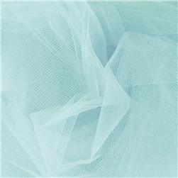 54'' Wide Tulle Aqua Fabric