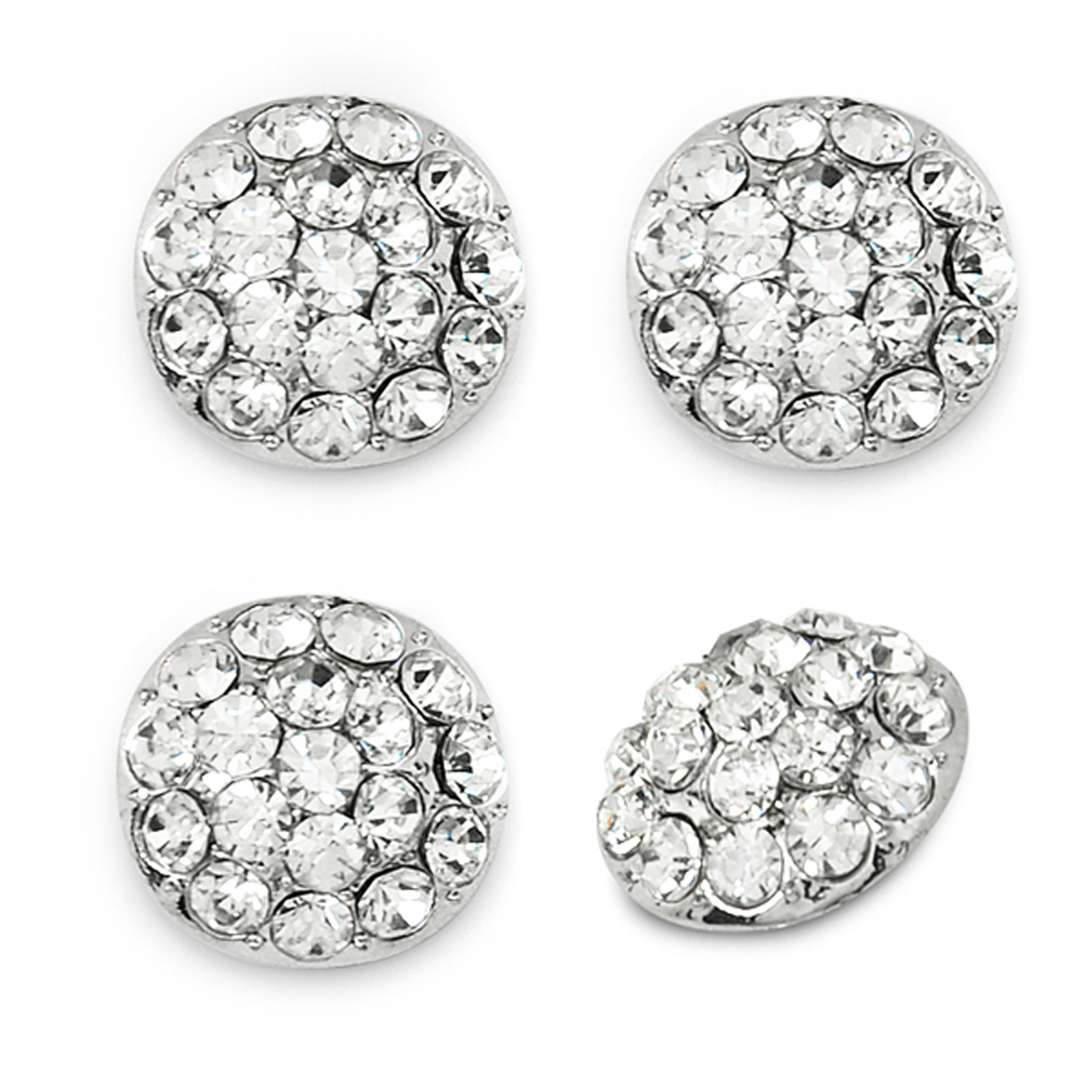 Image of 1.7cm Glass Rhinestone Button 4 PK