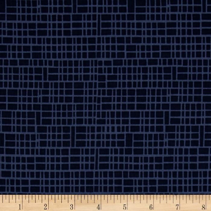 Moda Simply Colorful II Grid Navy