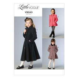 Vogue Children's/Girls' Jacket and Coat Pattern V9043 Size CDD