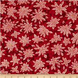 Moda Merriment Poinsettia Red